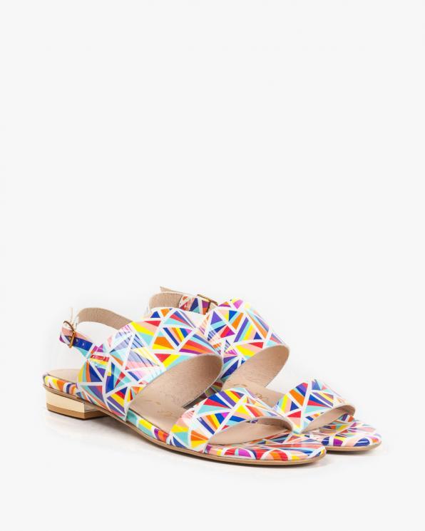 Wielokolorowe sandały damskie skórzane 2299/E97