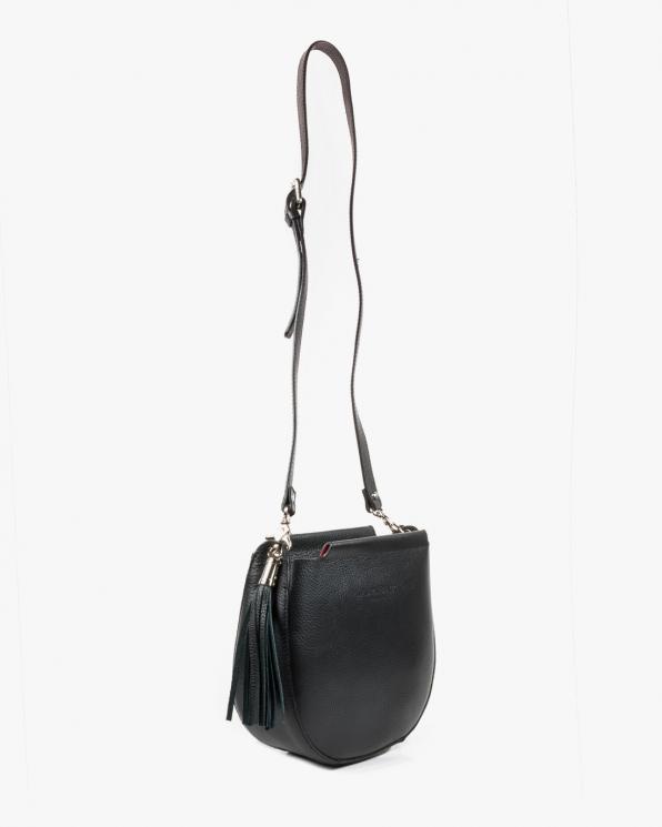 Czarna torebka damska skórzana DARMCZARNE-LICO