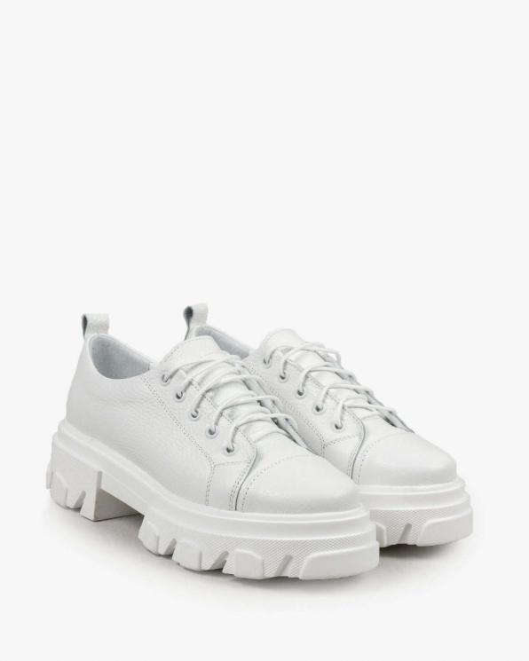 Białe trampki damskie skórzane 3458/G02