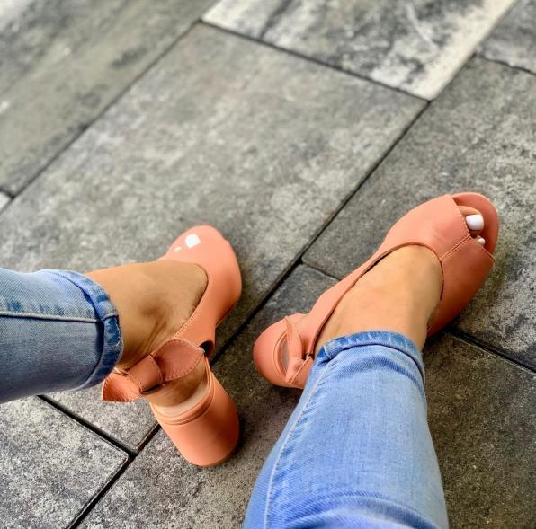 Morelowe sandały damskie skórzane 3243/D66