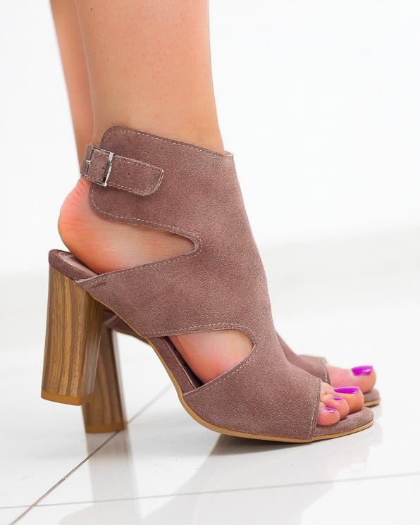 Beżowe sandały damskie skórzane 2731/E26