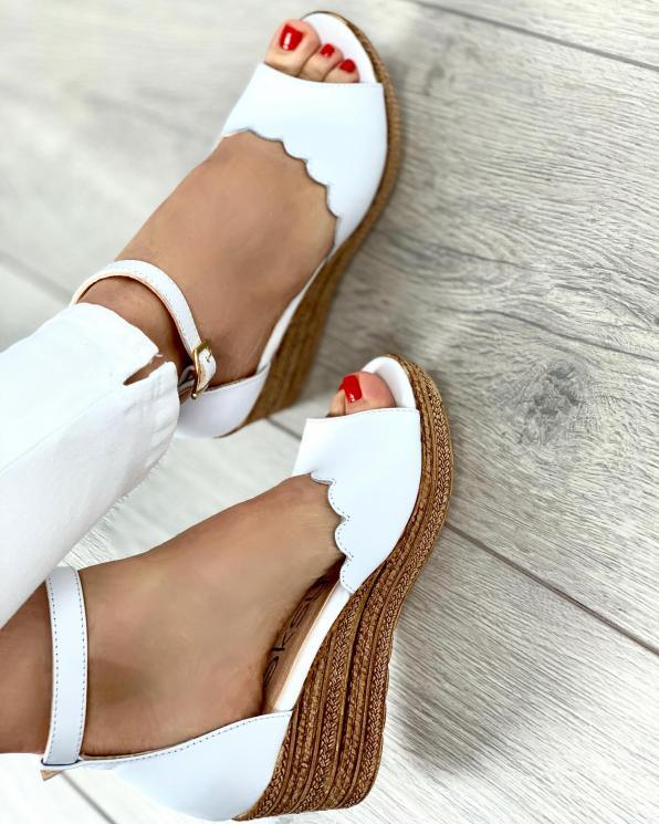 Białe sandały damskie skórzane 2966/534