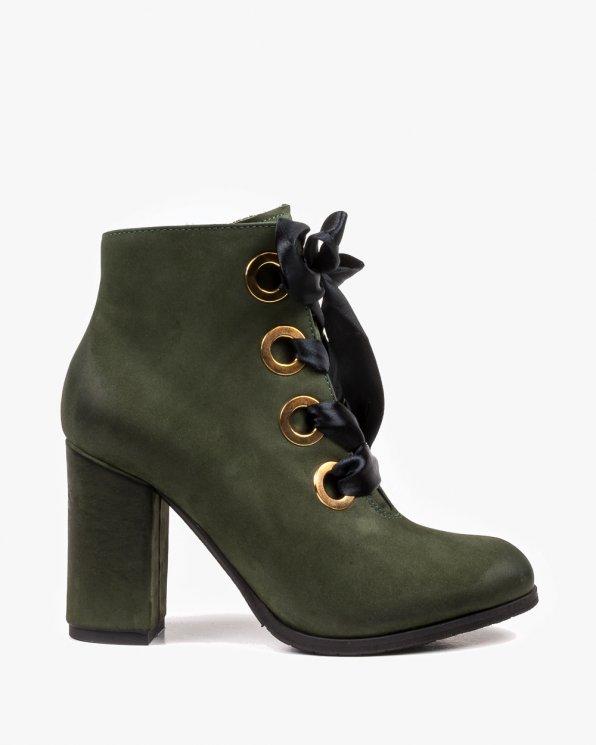 Zielone botki damskie 2375/D57