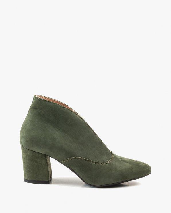 Zielone botki damskie skórzane 2369/D57
