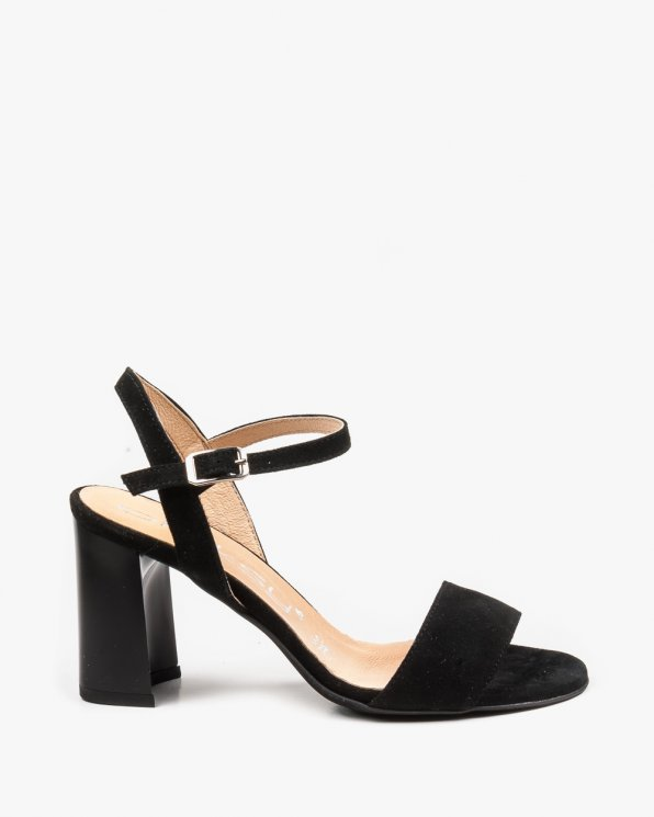 Czarne sandały damskie 2334/147