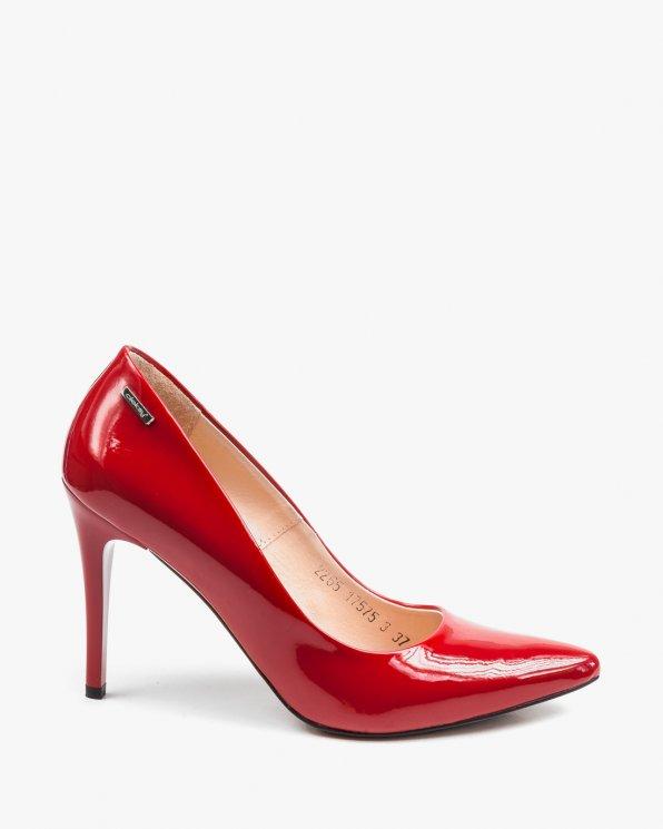 Czerwone czółenka damskie skórzane 2265/539