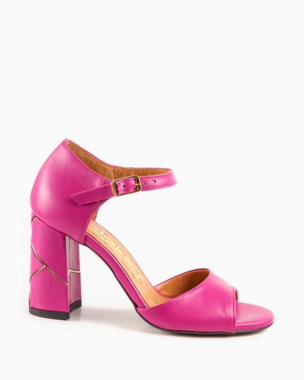 Różowe sandały damskie skórzane 2822/E33