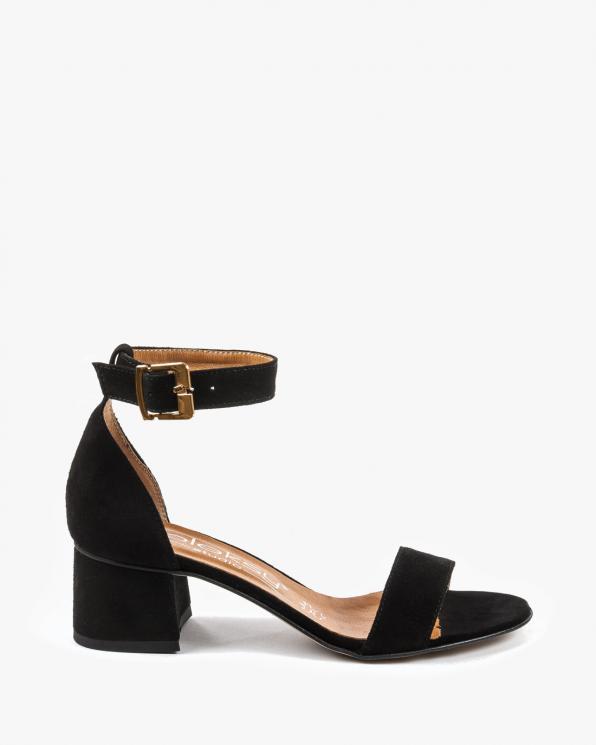 Czarne sandały damskie skórzane 2148/147