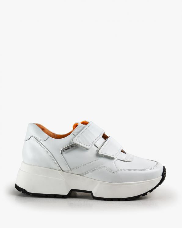 Białe półbuty damskie skórzane 2806/534