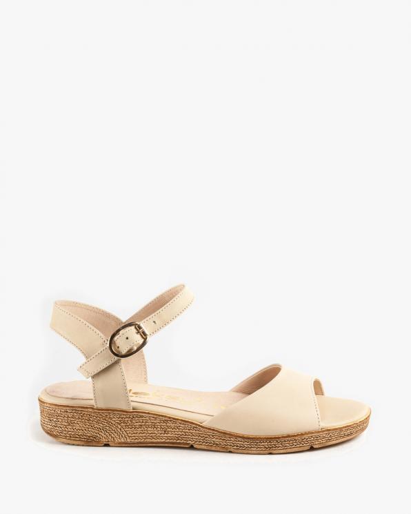 Beżowe sandały skórzane damskie 2939/F24