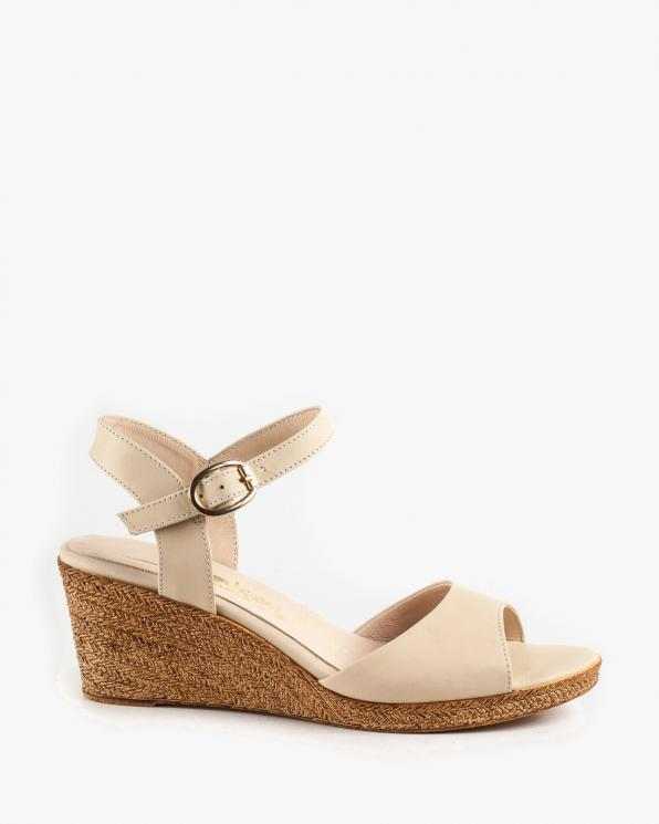 Beżowe sandały damskie skórzane 2940/F24