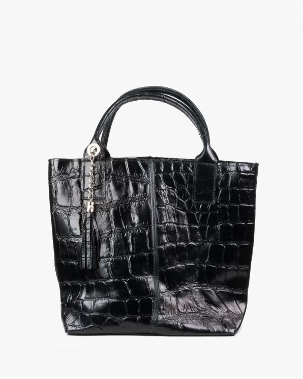 Czarna torebka damska skórzana DARDCZARNYKROKODYL