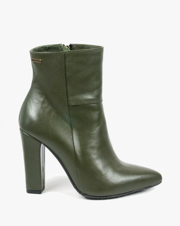 Zielone botki damskie skórzane 2792/F02