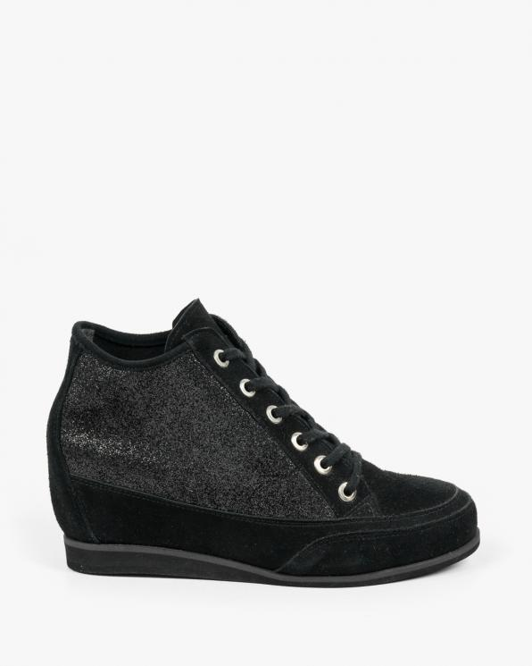 Czarne sneakersy damskie skórzane 2092/147/A87