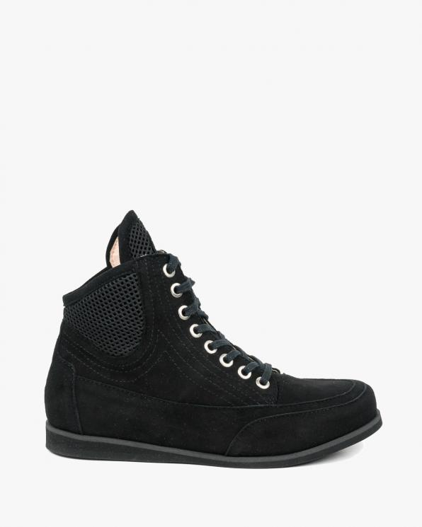 Czarne sneakersy damskie skórzane 2108/147/B16