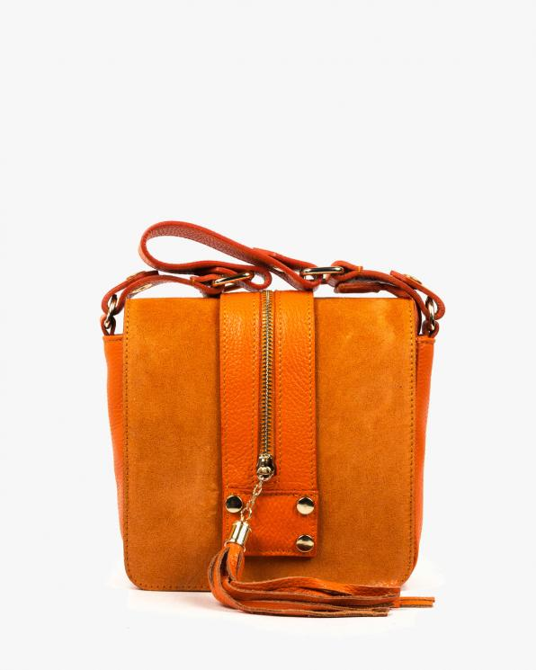 Pomarańczowa torebka damska skórzana GRE419-028/POMARAŃCZOWY