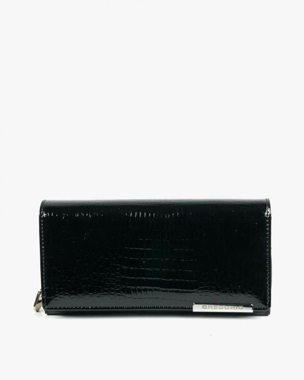 Czarny portfel damski skórzany GREGF106/BLACK