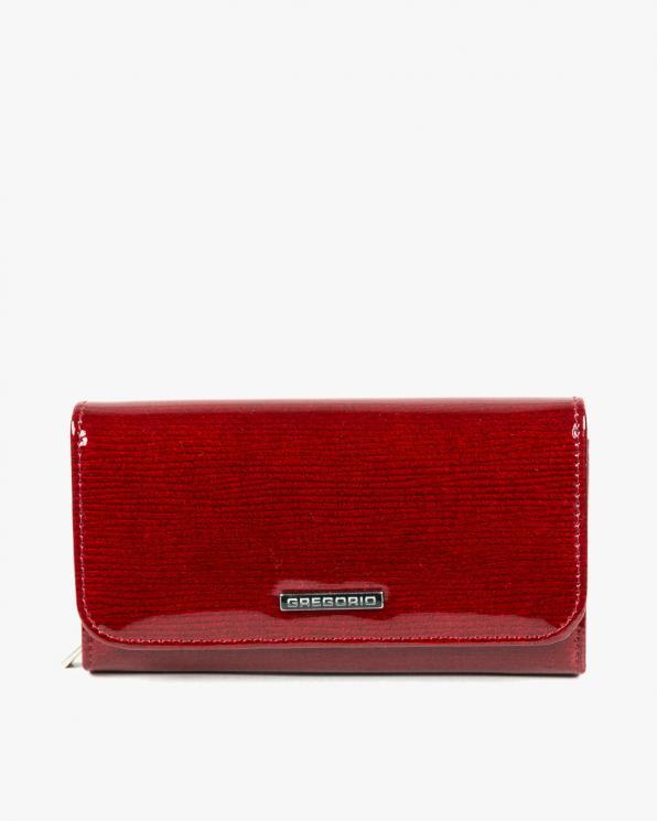 Czerwony portfel damski skórzany GRELN-110/CZERWONY