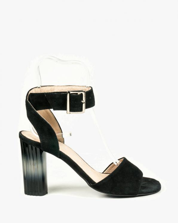 Czarne sandały damskie skórzane 2724/147