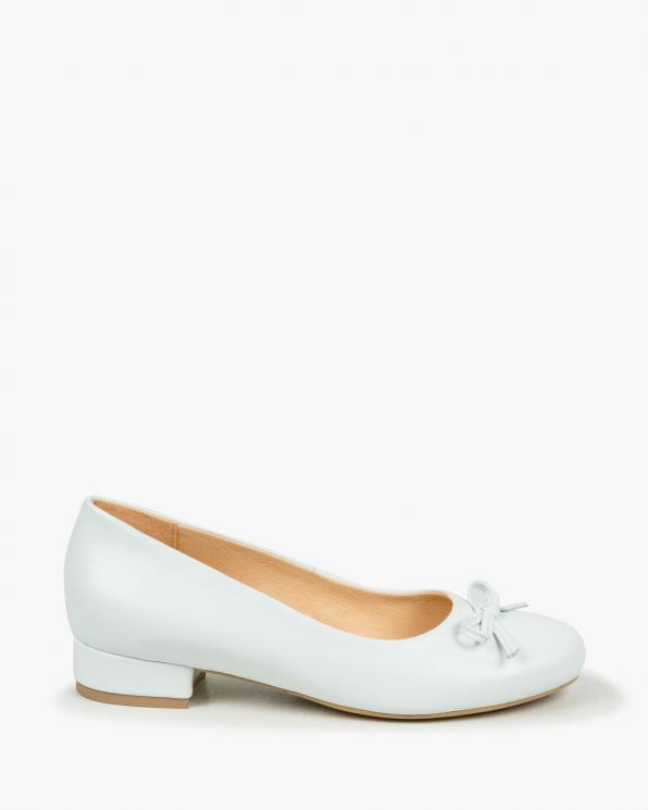 Białe balerinki damskie skórzane 2961/534