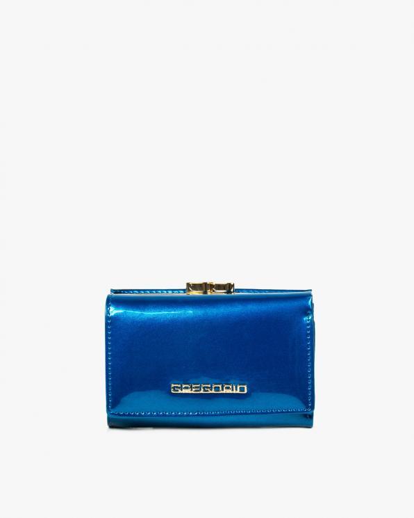 Niebieski portfel damski skórzany GRESH-117/NIEBIESKI