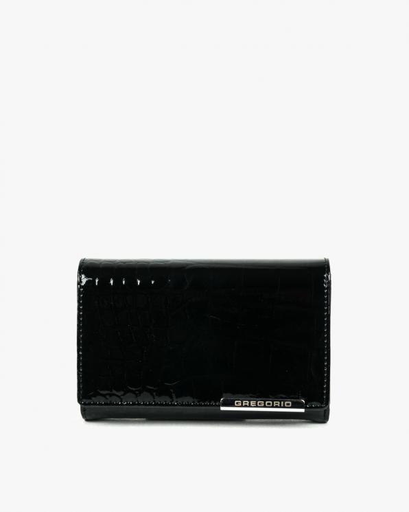 Czarny portfel damski skórzany GREBC-112/CZARNY
