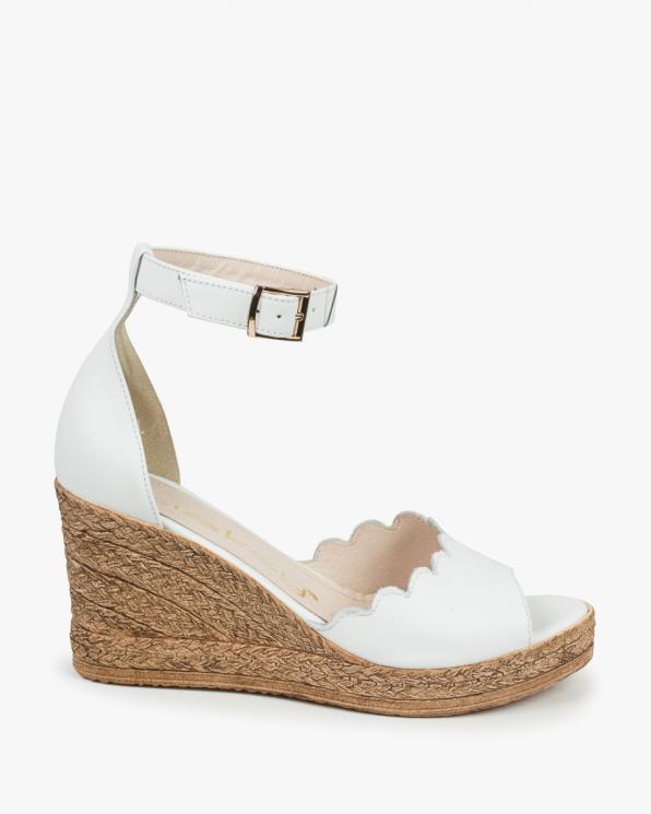 Białe sandały damskie skórzane 3043/534