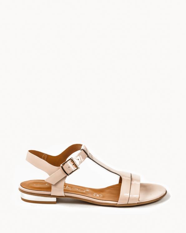 Beżowe sandały damskie skórzane 2000/661