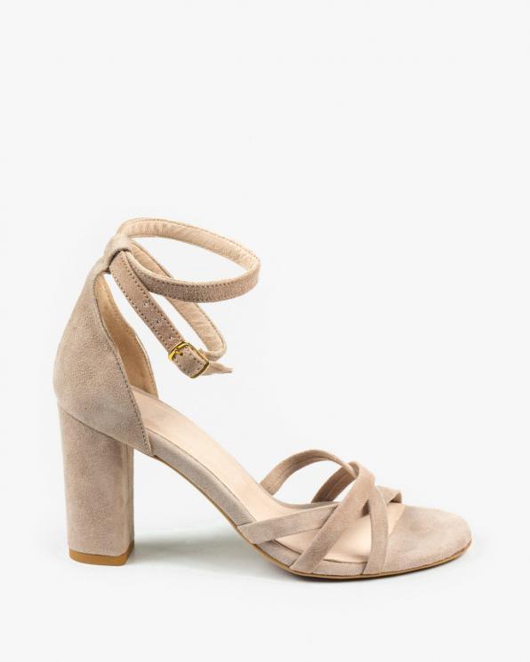 Beżowe sandały damskie skózane 2996/F89