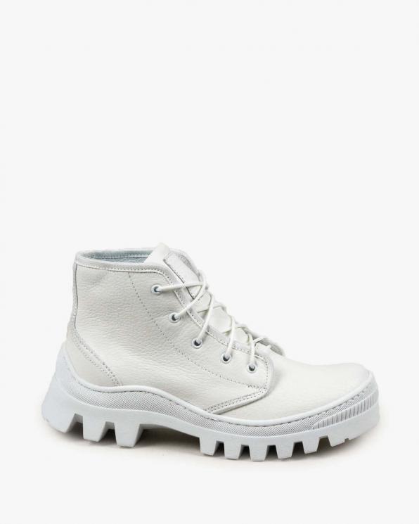 Białe trampki damskie skórzane 3411/G02