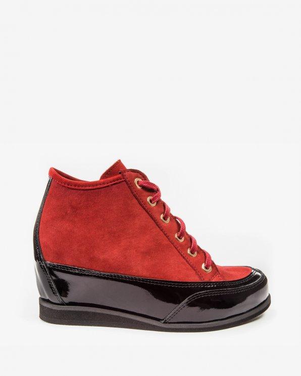 Czerwono czarne sneakersy 2053/542/C24