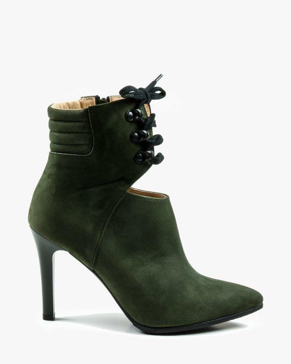 Zielone botki damskie 2430/D57