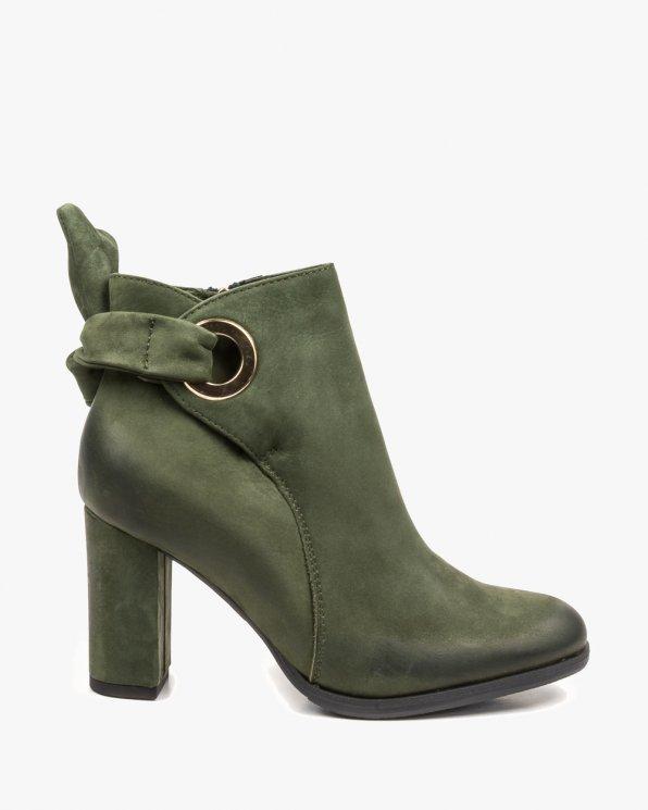 Zielone botki damskie 2409/D57