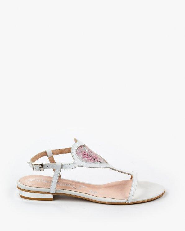 Białe sandały damskie skórzane 2131/534/A70