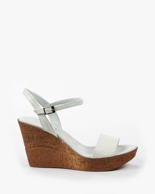 Białe sandały damskie skórzane 1795/656