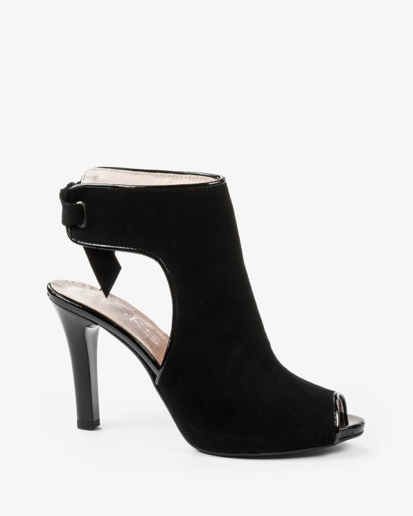 Czarne sandały damskie skórzane 2079/147/542