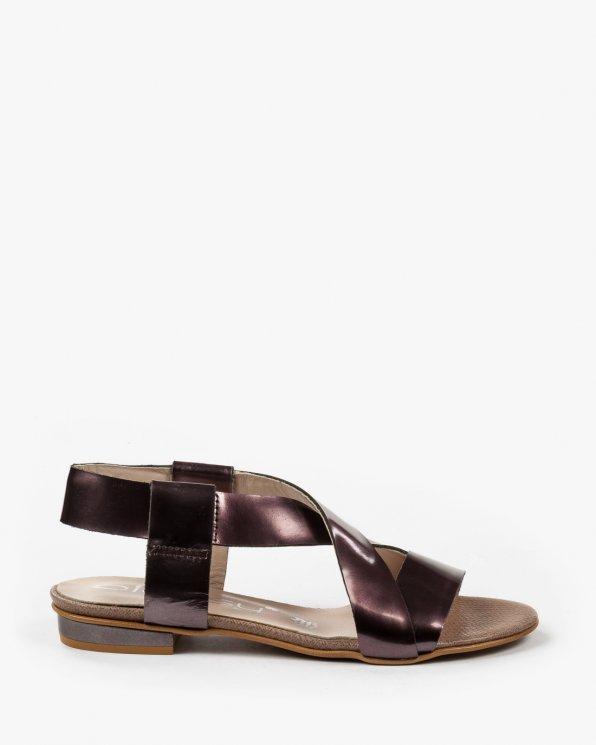 Fioletowe sandały damskie skórzane 2157/826