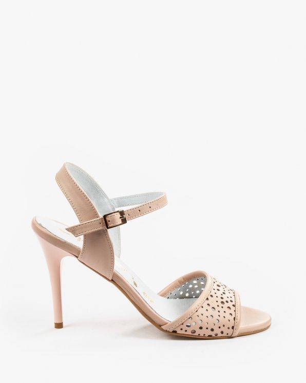 Beżowe sandały damskie skórzane 2026/B19