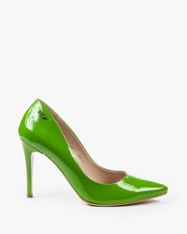 Zielone czółenko damskie skórzane 1843/874