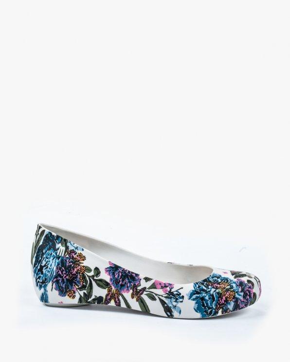 Wielokolorowe baleriny damskie MEL/32202/WHITE/BLUE