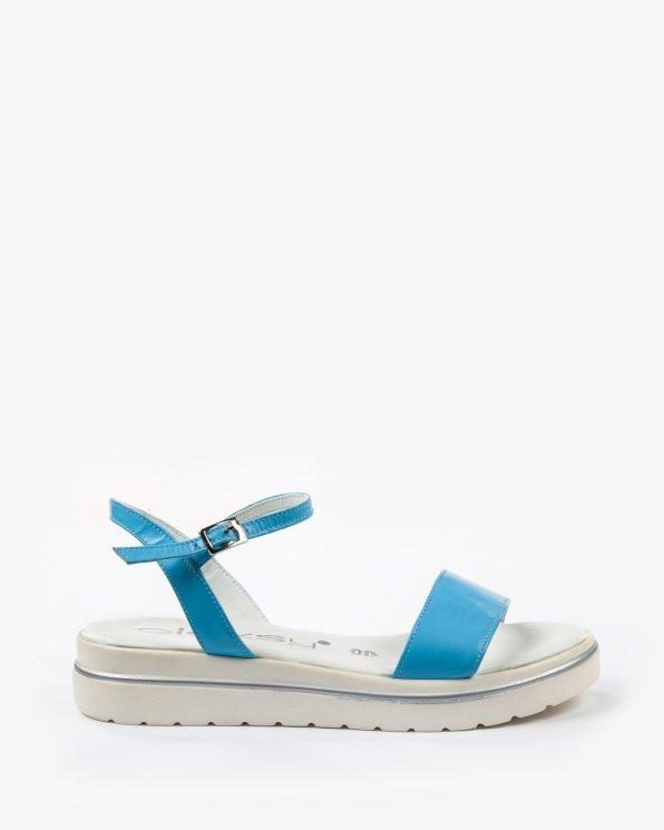 Niebieskie sandały damskie skórzane 2098/704