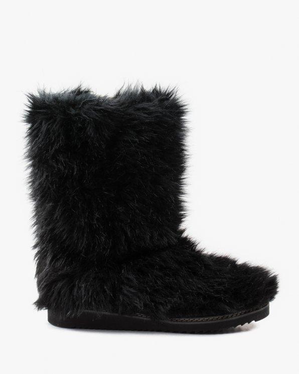 Śniegowce czarne damskie. futro 2488/D80