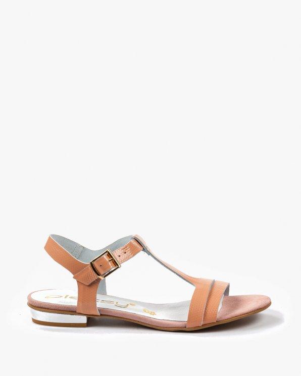Pomarańczowe sandały damskie skórzane 2000/991