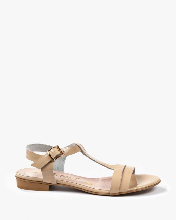 Beżowe sandały damskie skórzane 2000/832