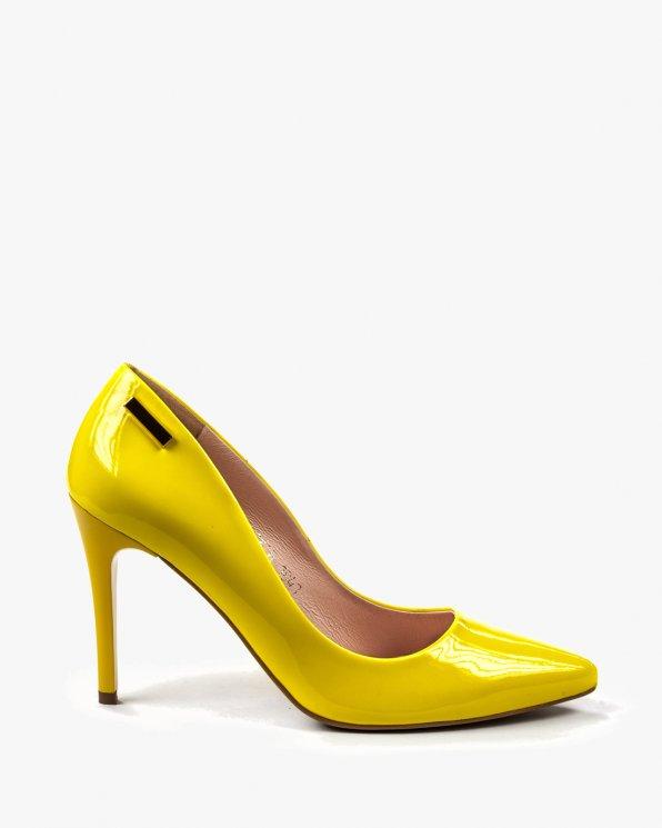 Żółte czółenka damskie skórzane 1843/671