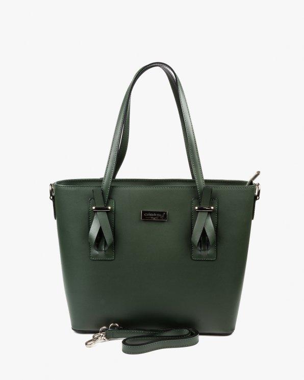 Skórzana torebka damska RBS16157/ZIELEŃ