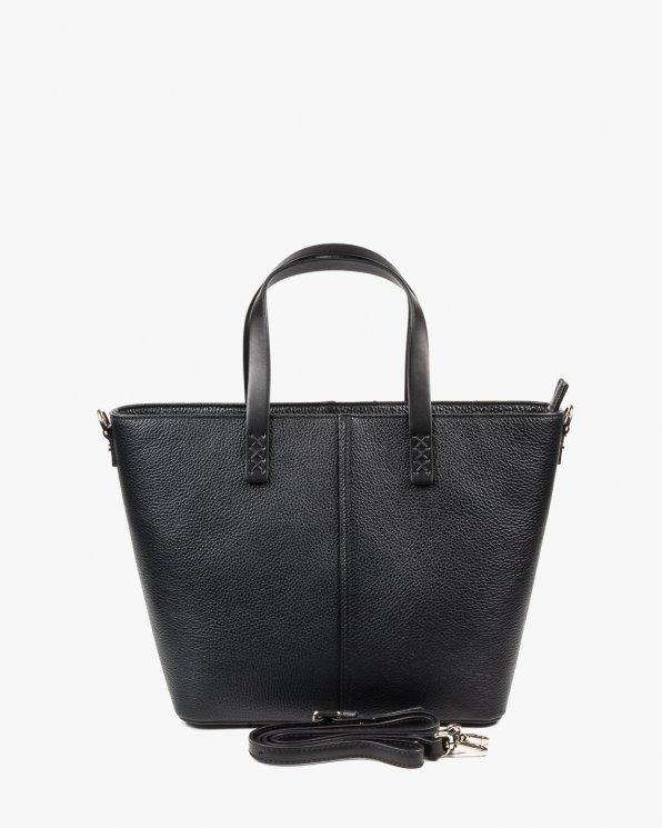 Skórzana torebka damska RBSA238/CZARNY