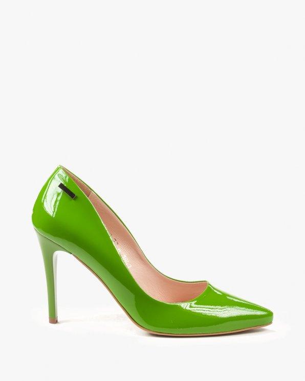 Czółenko zielone damskie skórzane 1843/795