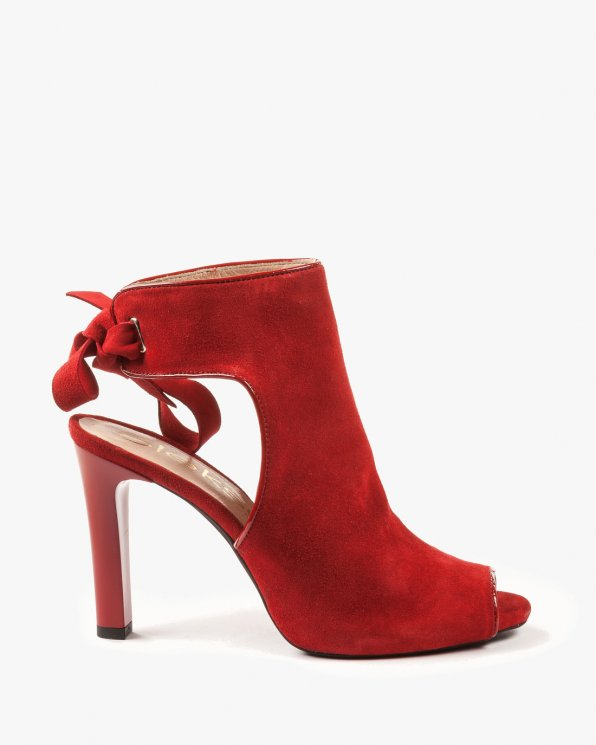 Czerwone sandały damskie skórzane 2079/955/539