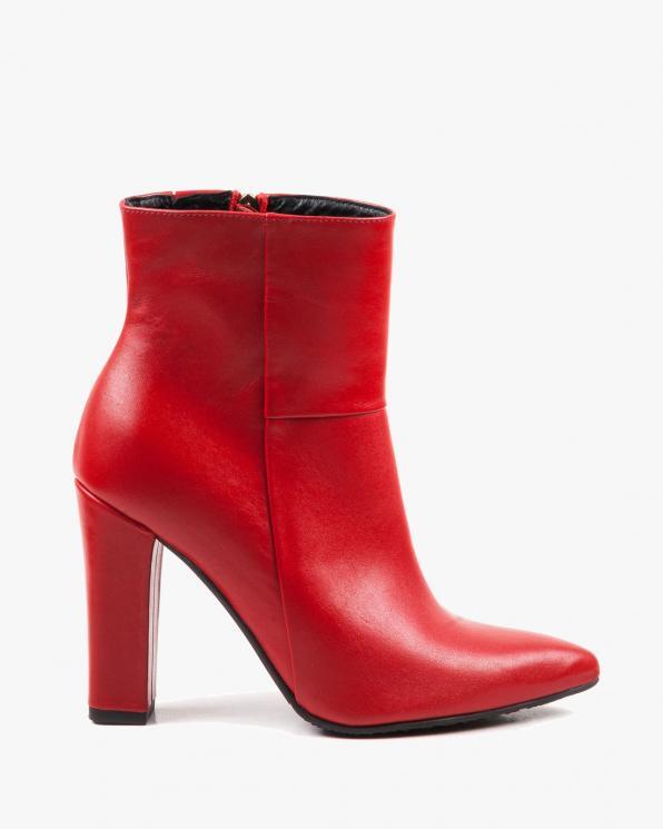 Czerwone botki damskie skórzane 2792/200